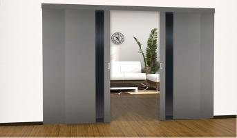 Крашенные раздвижные двери