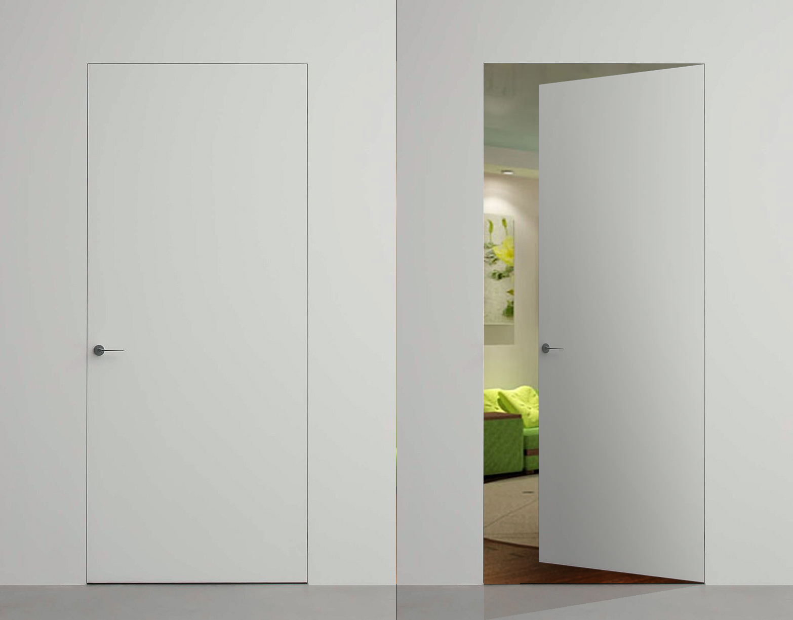 скрытая дверь под покраску купить